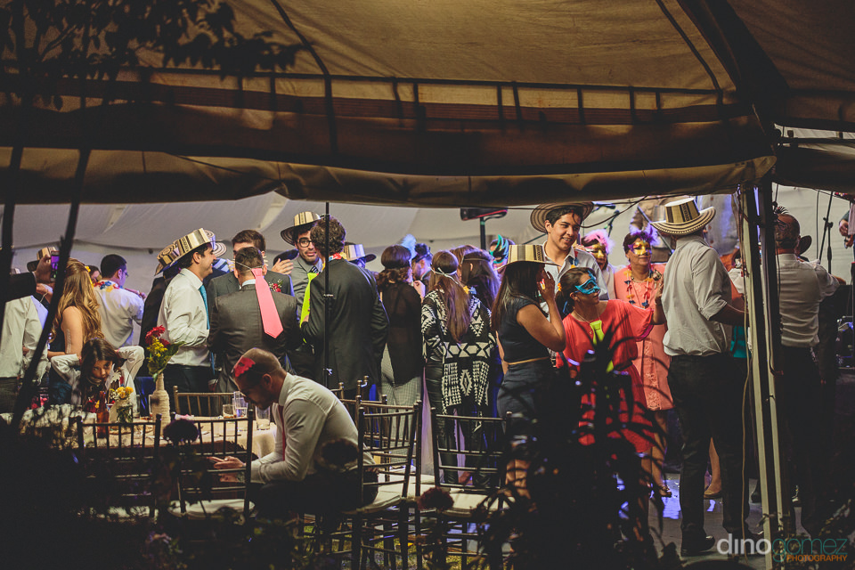 south american destination wedding attended by guests from aroun