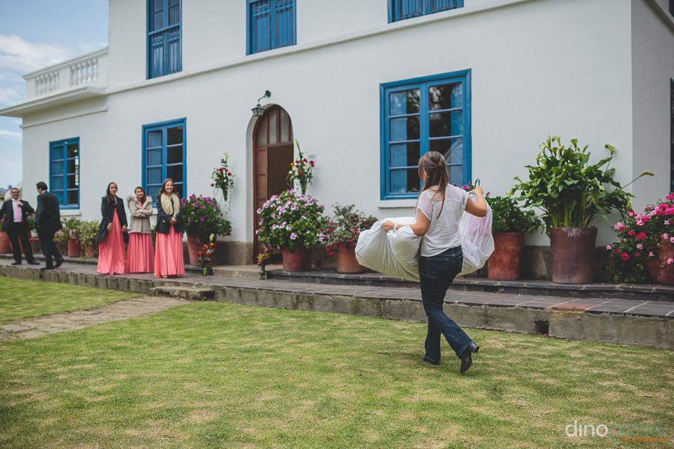 bridal dress is delivered at destination wedding