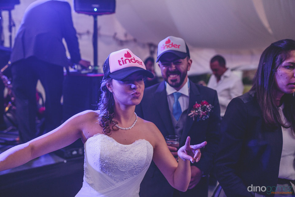 bride and groom party at destination wedding photographed by din