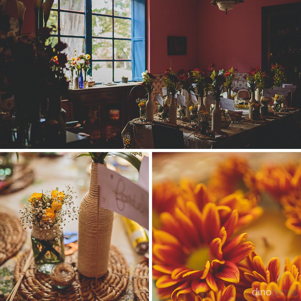 flores de la boda fotografiado por dino gomez