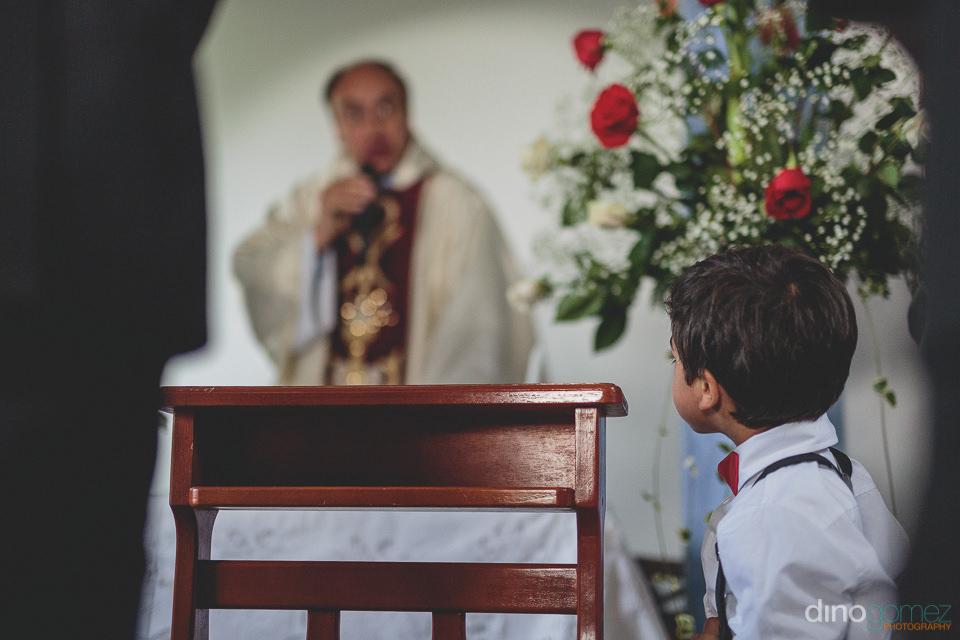 colombian church wedding priest