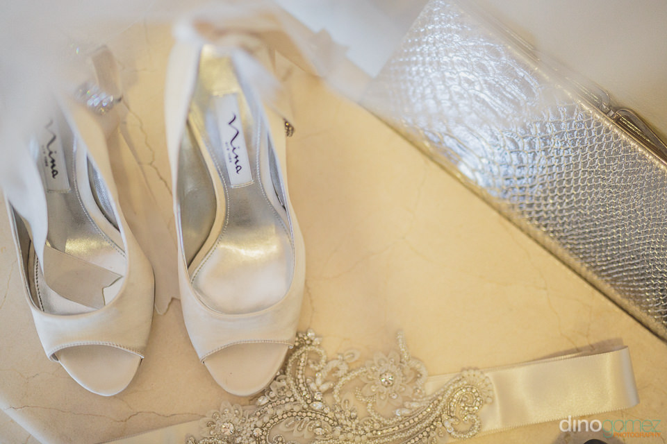 white nina wedding shoes – dino gomez photography