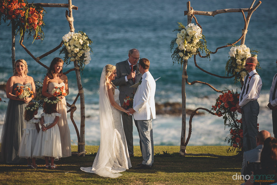 oceanside wedding in cabo san lucas photo by dino gomez
