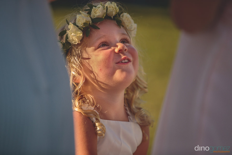 beautiful young flower girl photo by dino gomez