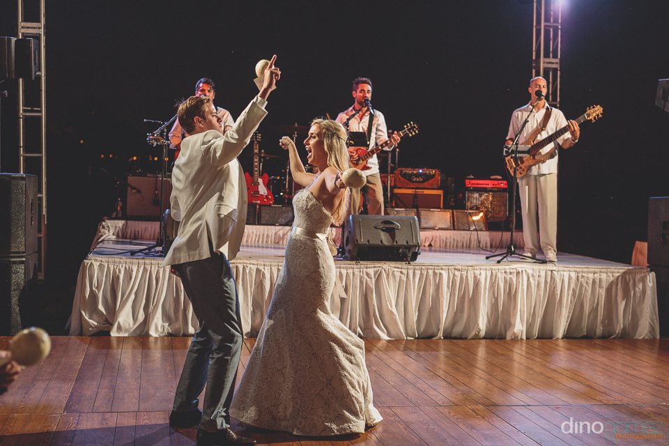 kilometro on stage at cabo san lucas wedding
