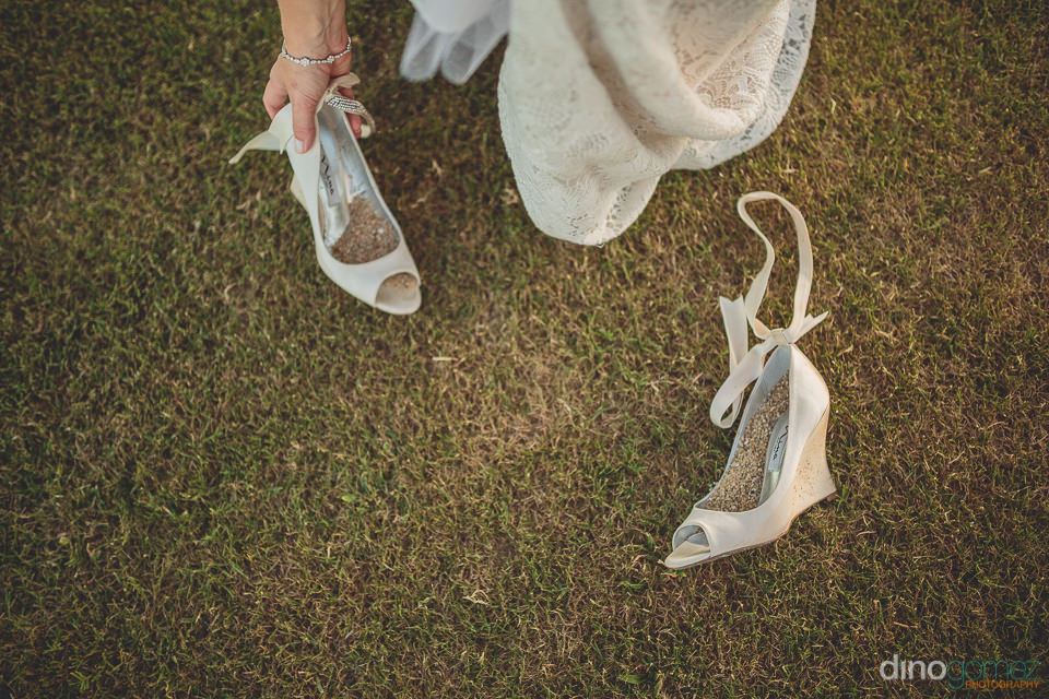nina wedding shoes for los cabos wedding