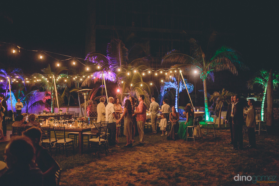 small backyard wedding reception in los cabos photo by dino gome
