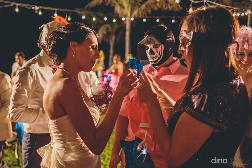 mexican luchador masks at wedding in los cabos