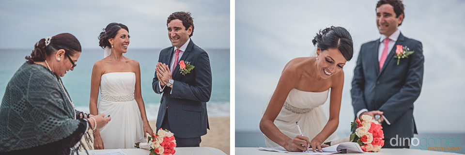 beachside wedding certificate signing in los cabos photos by din