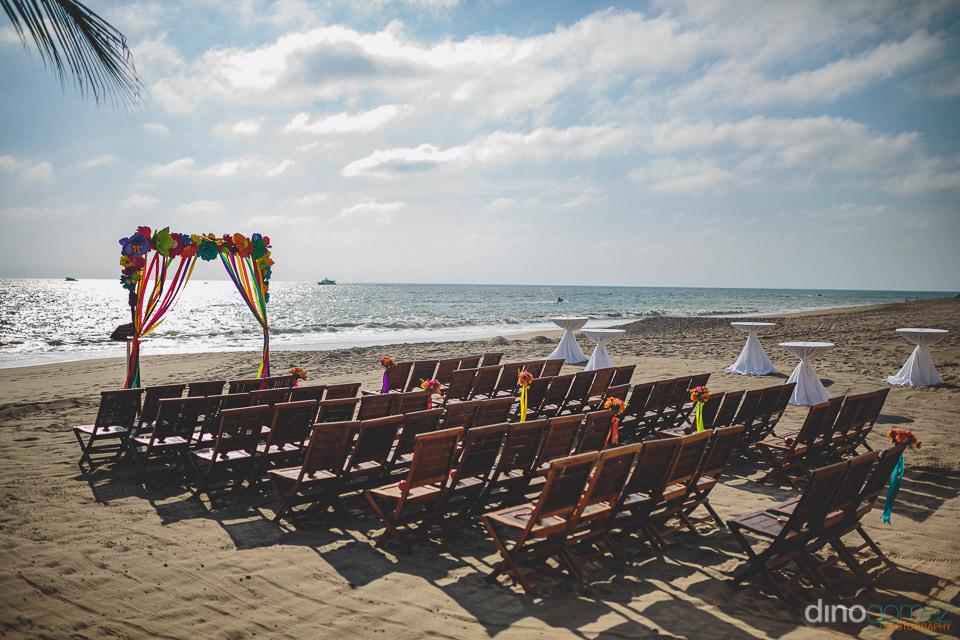 beach wedding ceremony furniture in puerto vallarta at casa vela