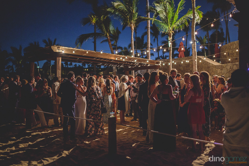sunset beach wedding at hacienda cocina y cantina