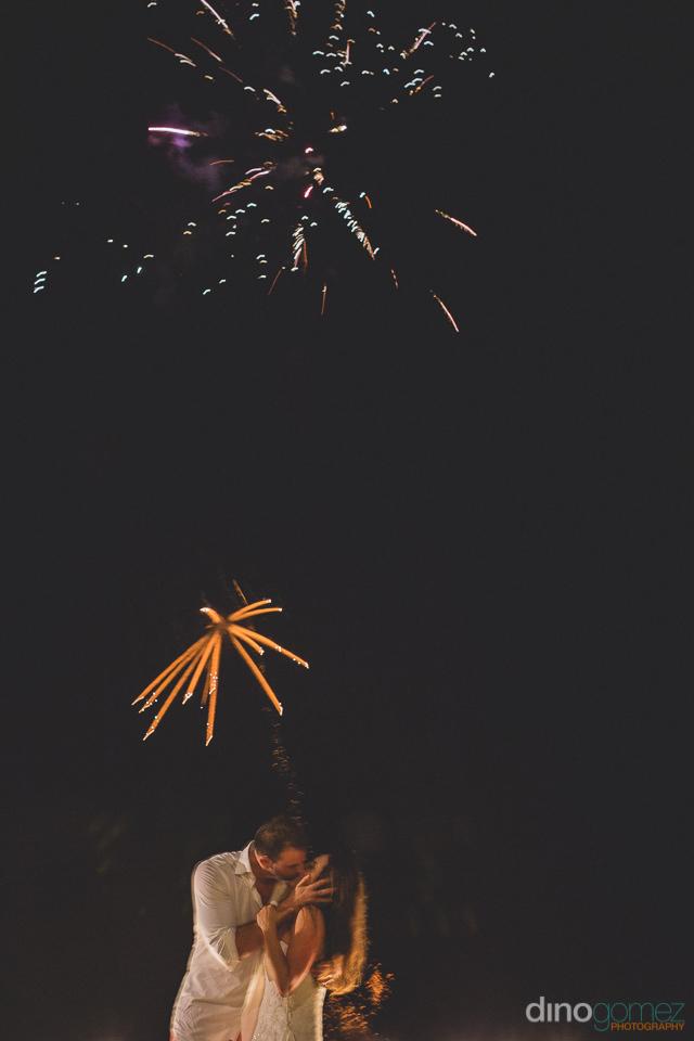 wedding fireworks in puerto vallarta photo by dino gomez