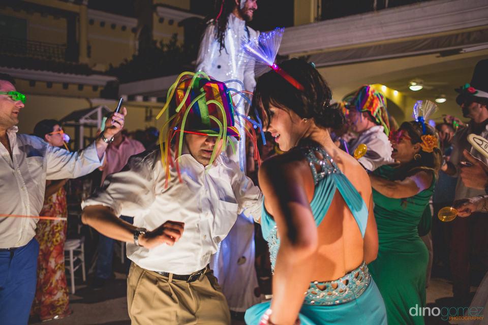 party during wedding at casa velas in puerto vallarta photos by