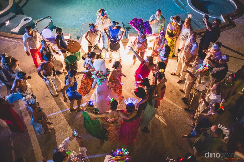 poolside wedding reception at casa velas puerto vallarta dino go