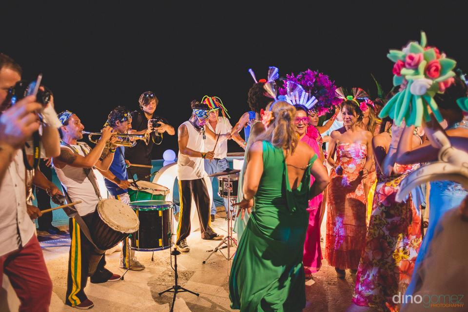 fun bright latin mexican wedding reception in puerto vallarta