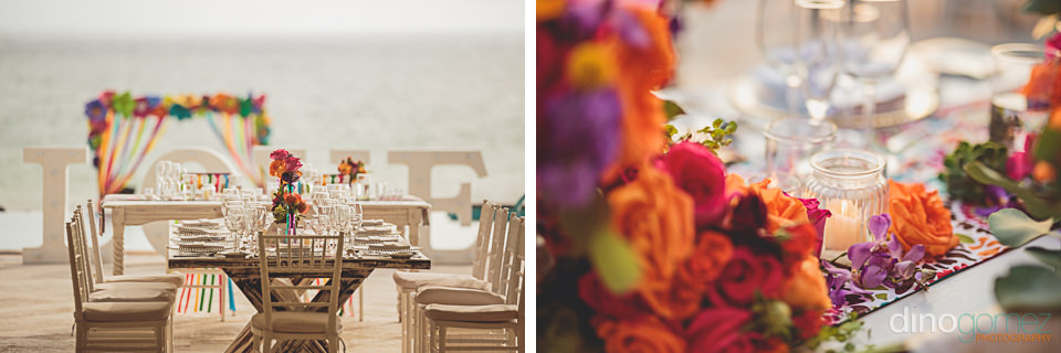 cabo floral studio flowery altar and wedding reception photo by