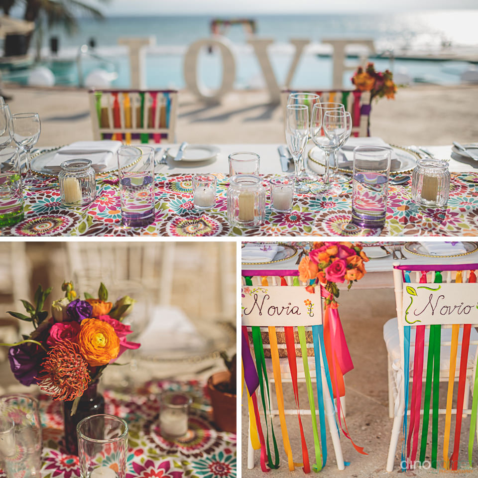 bright colors for wedding in mexico