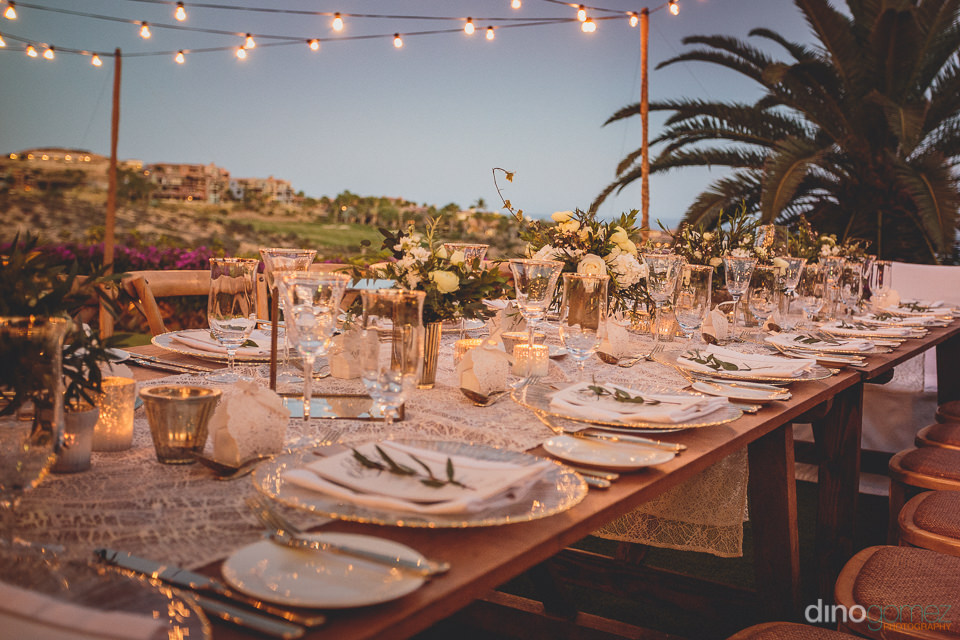 luxury wedding dinner table and place settings photographed by d
