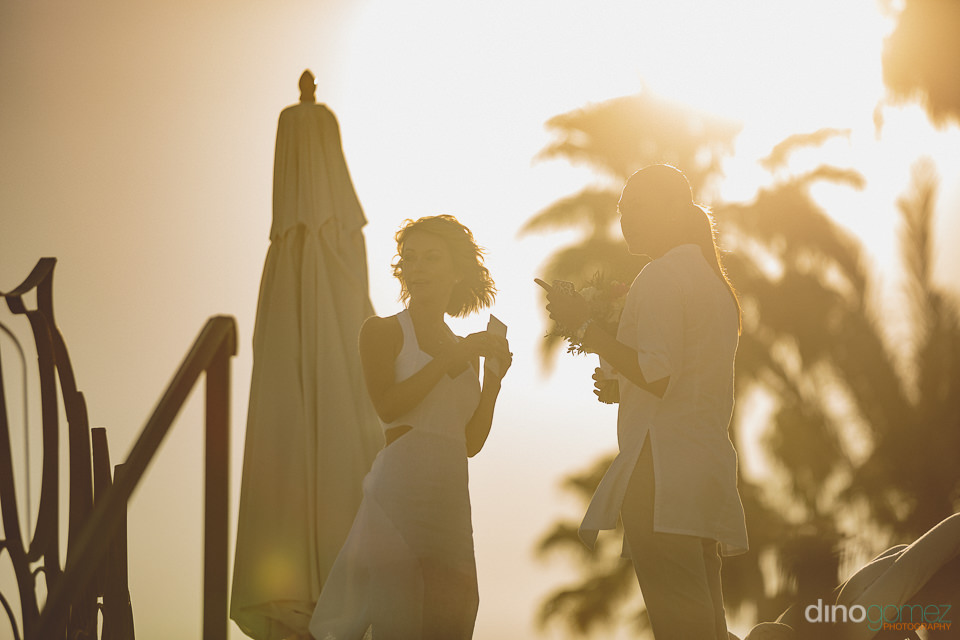 bright sunny photo of bride at las ventanas resort in cabo san l