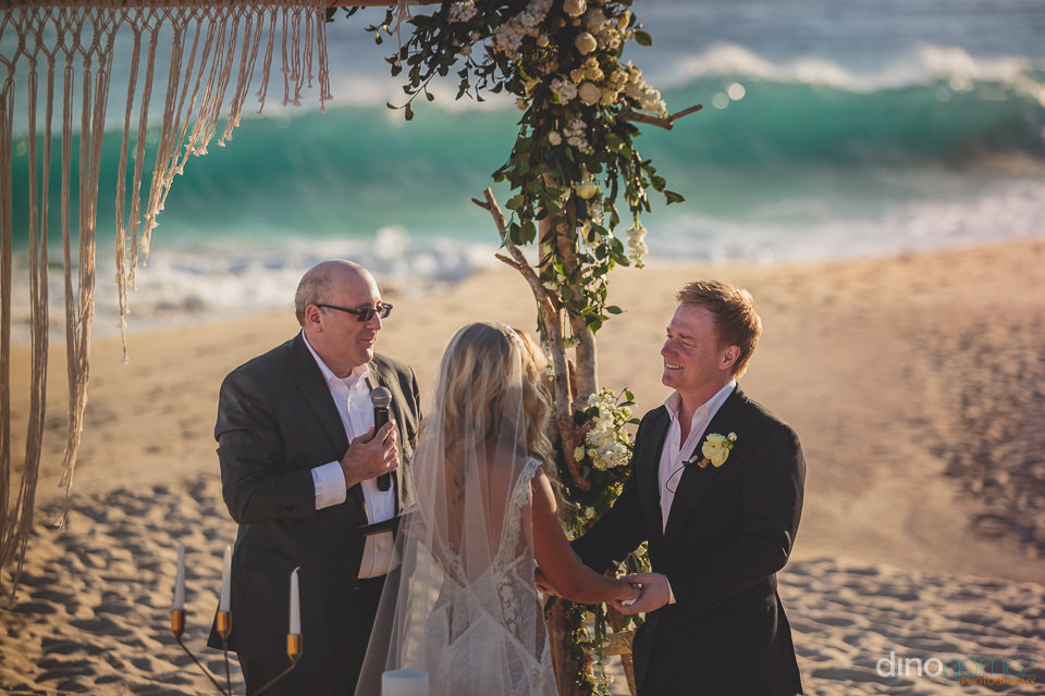el dorado golf and beach club wedding ceremony on the beach phot