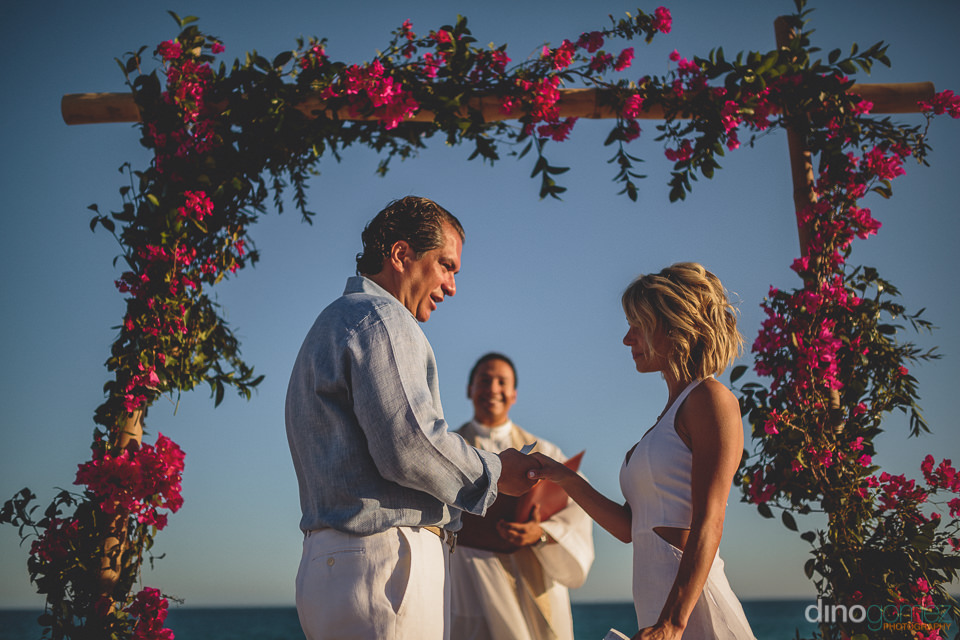 eloping bride and groom get married in cabo san lucas mexico