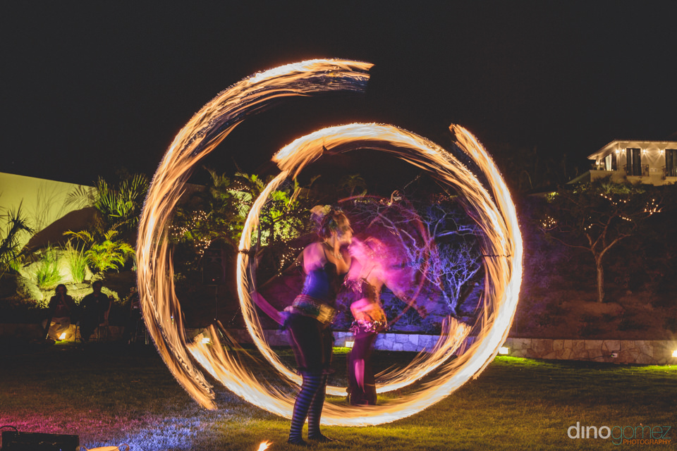 Circus Performers At Luxury Destination Wedding In Mexico