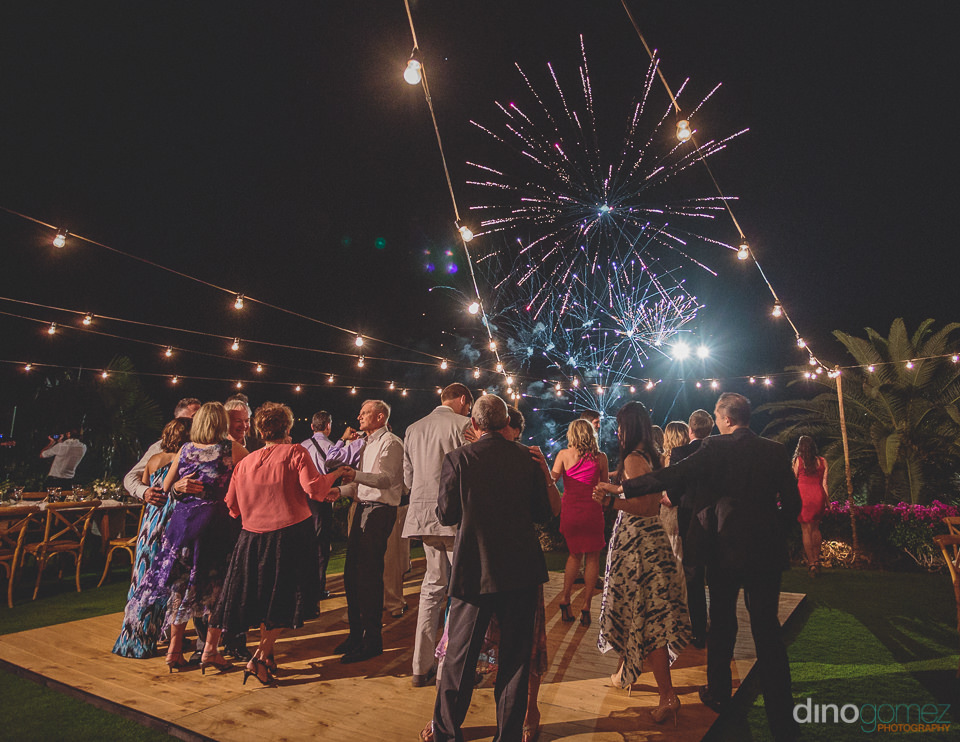 amazing beach fireworks for wedding at el dorado in los cabos me