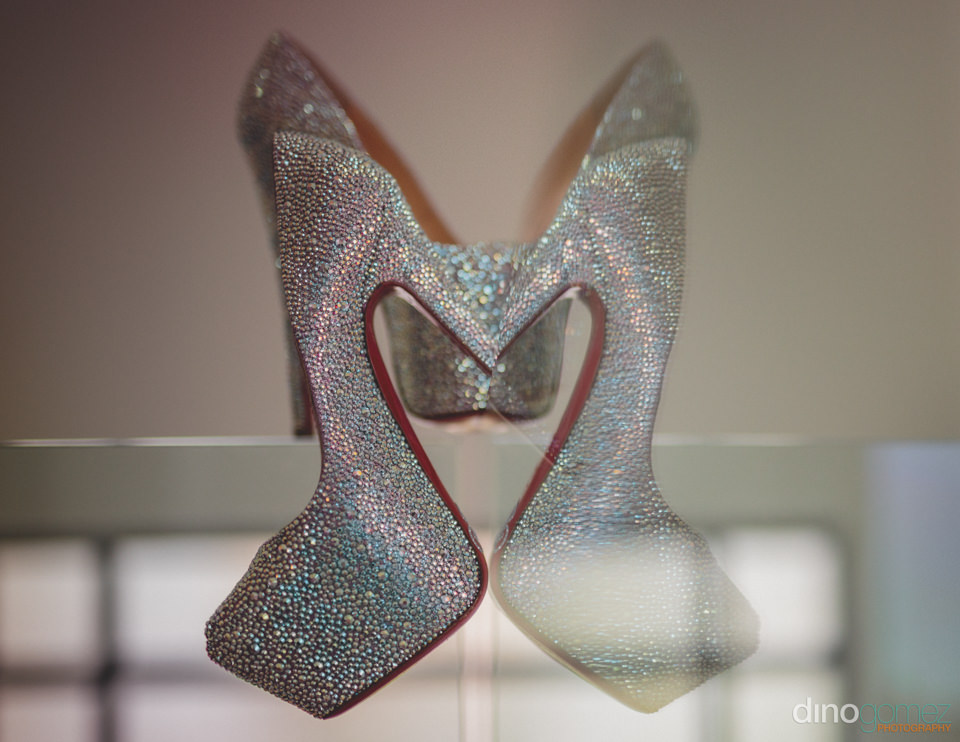 luxury designer high heeled wedding shoes photo by dino gomez