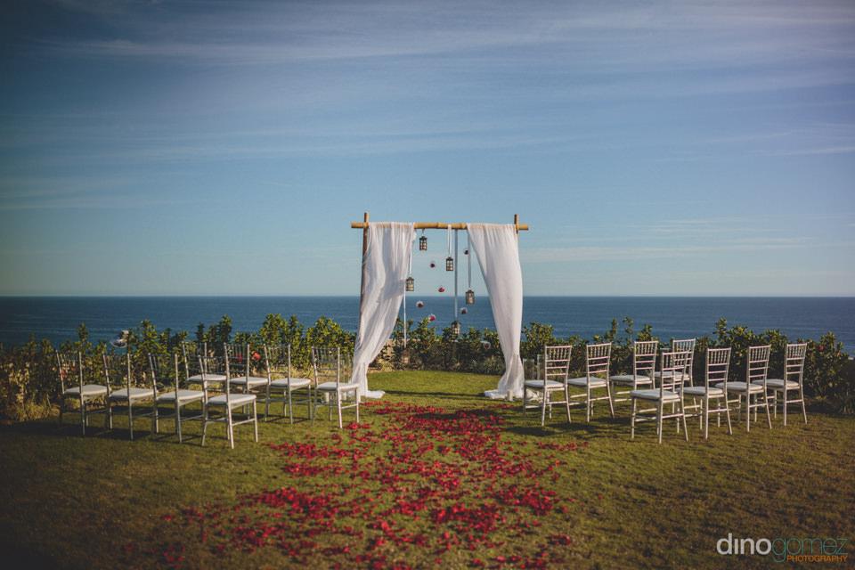 breathtaking ocean view from wedding ceremony at villa paradiso