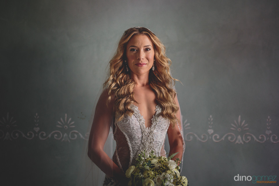 radiant and confident bride moments before her wedding at el dor