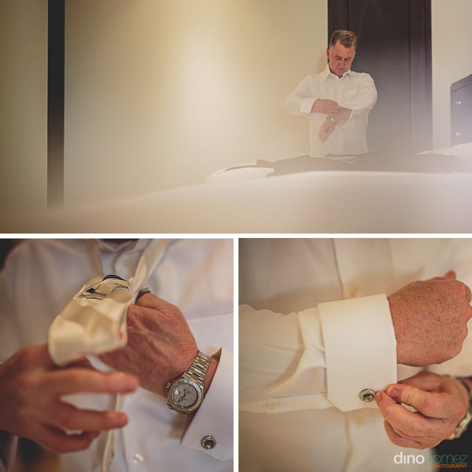 videographer in cabo dino gomez groom gets dressed on wedding da