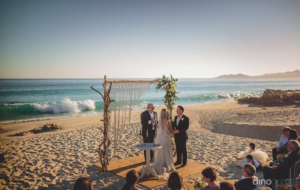 wedding ceremony at el dorado golf and beach club los cabos