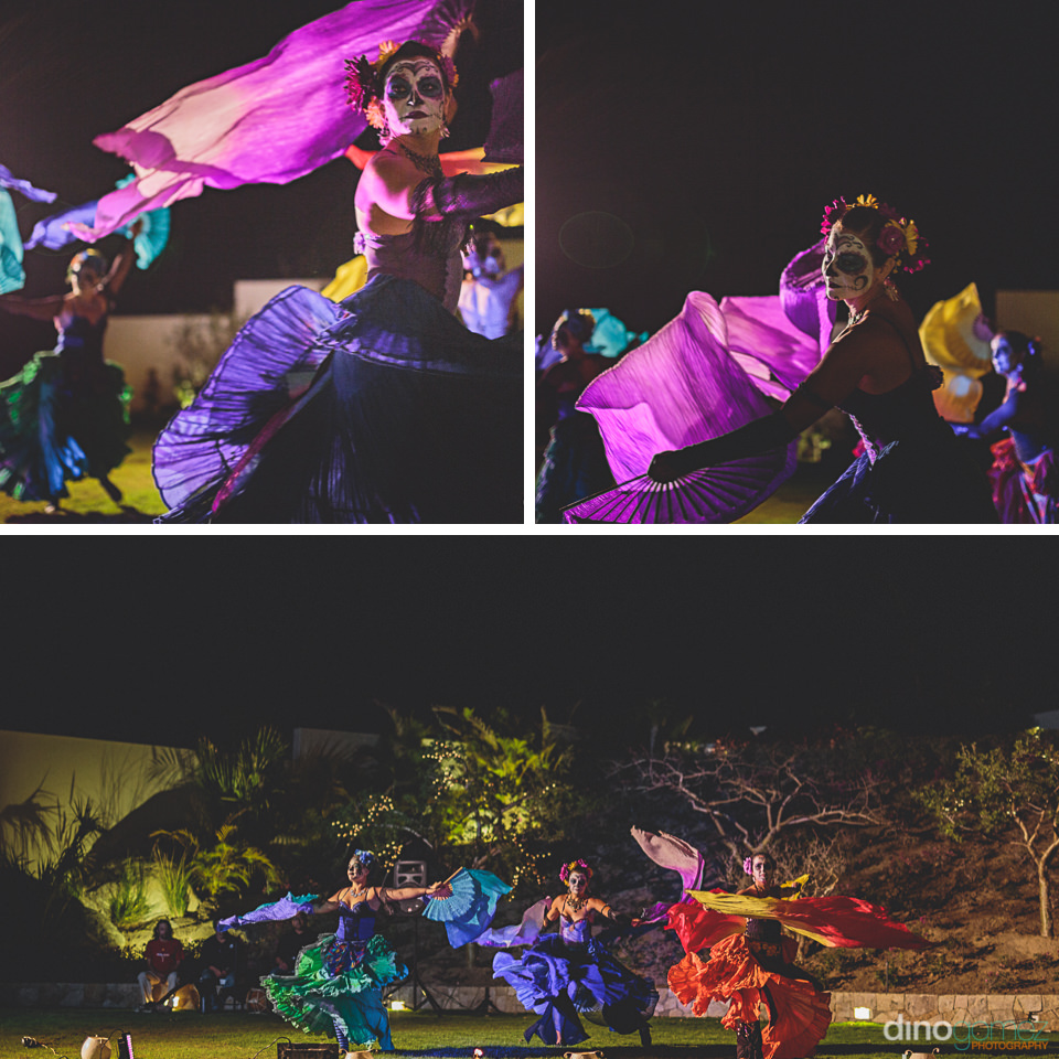 Mexican Day Of The Dead Dancers Perform At Destination Wedding I