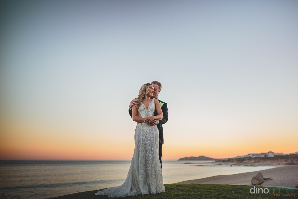 twilight wedding photo by dino gomez in los cabos