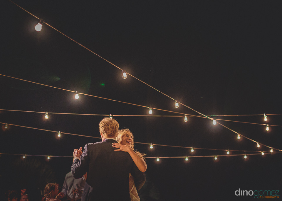 nighttime dance with bride and groom in san jose del cabo mexico