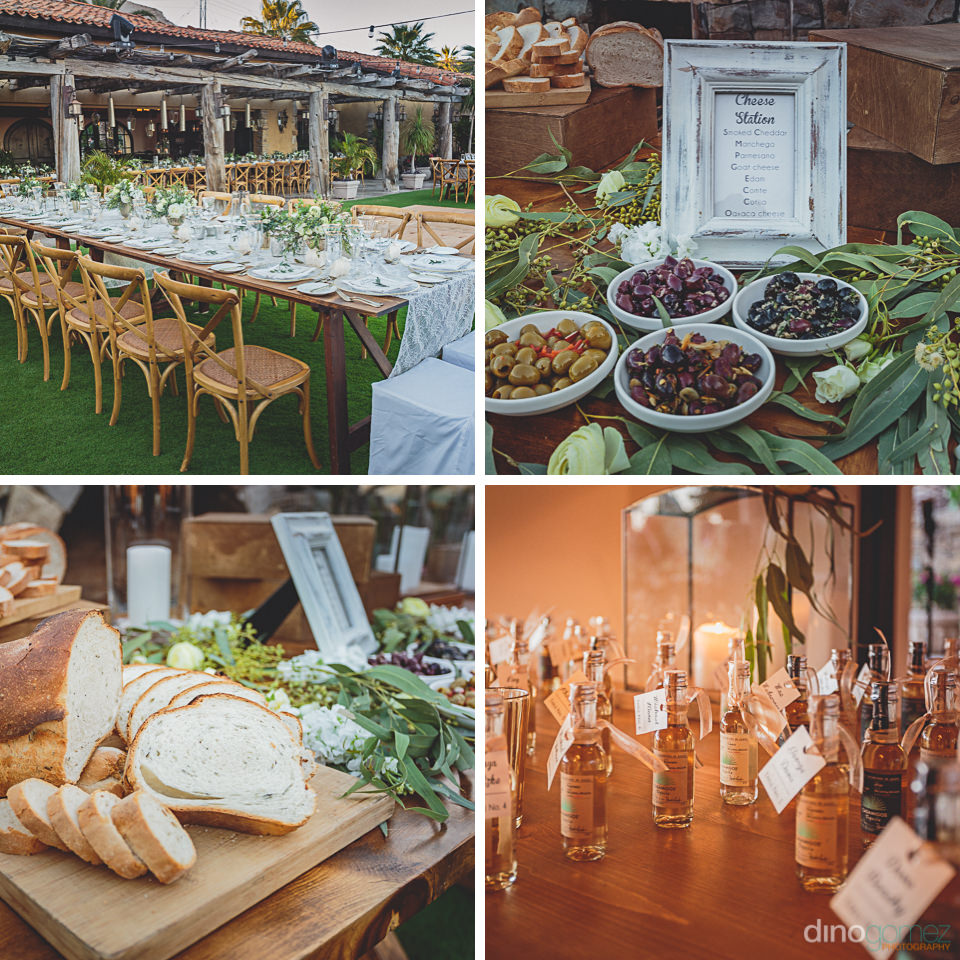 gourmet food served at luxury cabo destination wedding at el dor