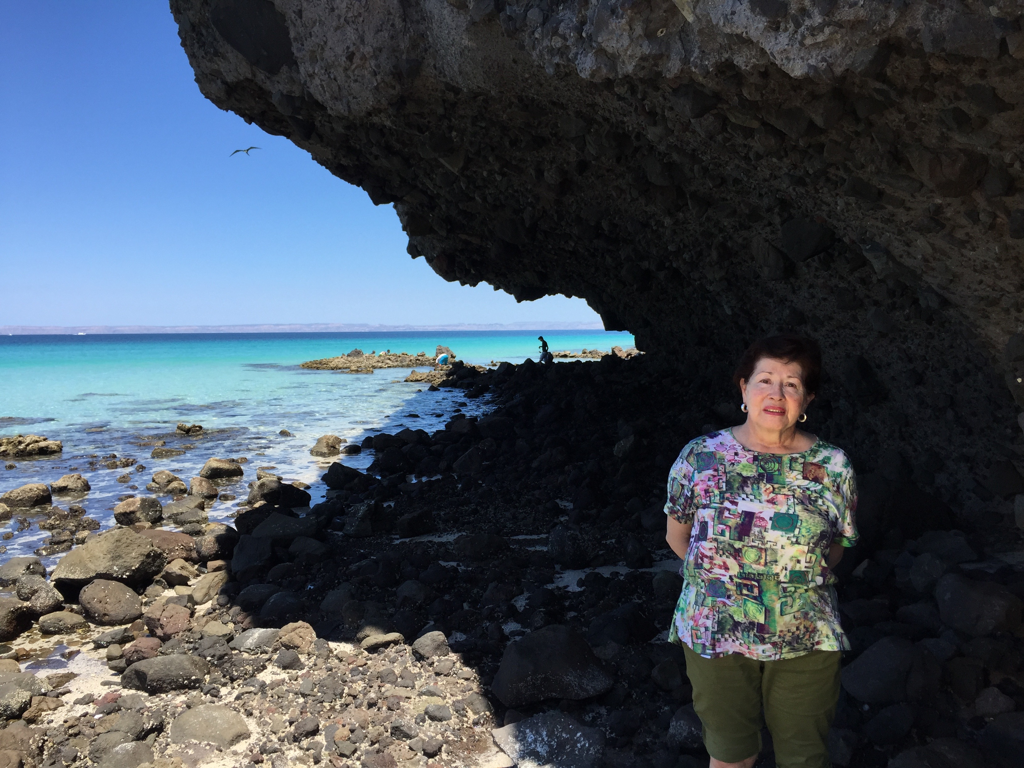 My mom at Balandra Beach, La Paz Mexico