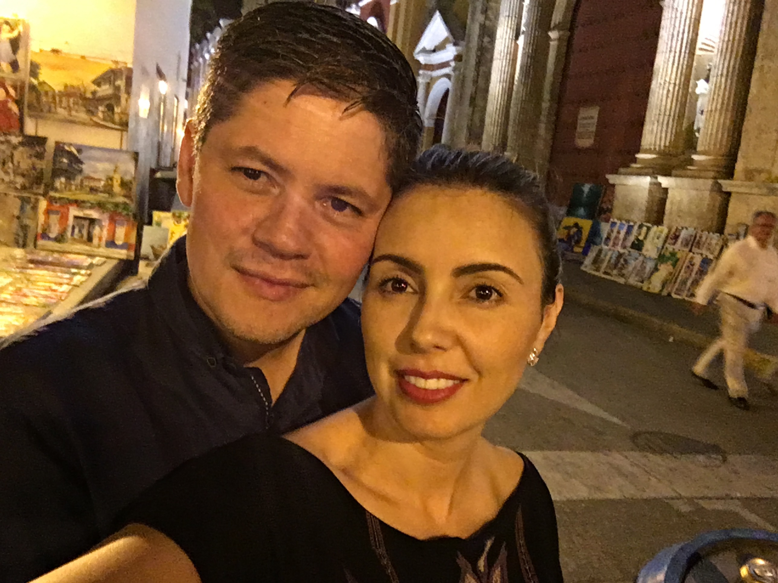 us in Cartagena, Colombia. Old City