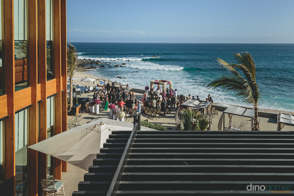 wedding on the beach at the cape hotel los cabos