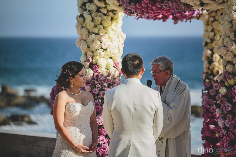destination wedding ceremony at the cape hotel