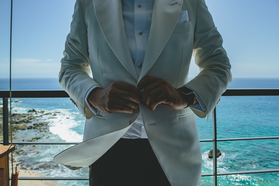 designer white suit jacket for wedding in cabo san lucas