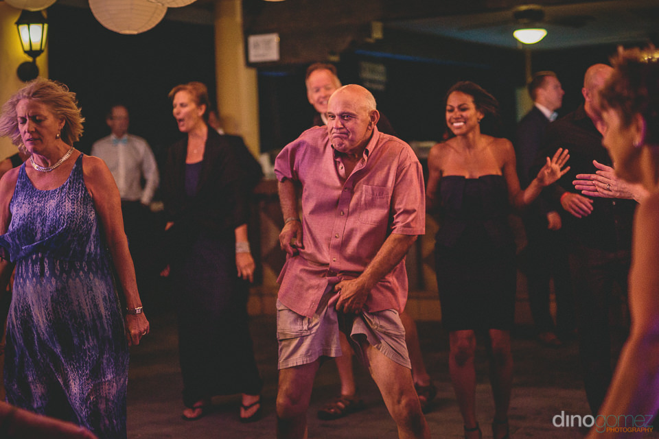 fun lively wedding reception for cabo wedding photographed by di