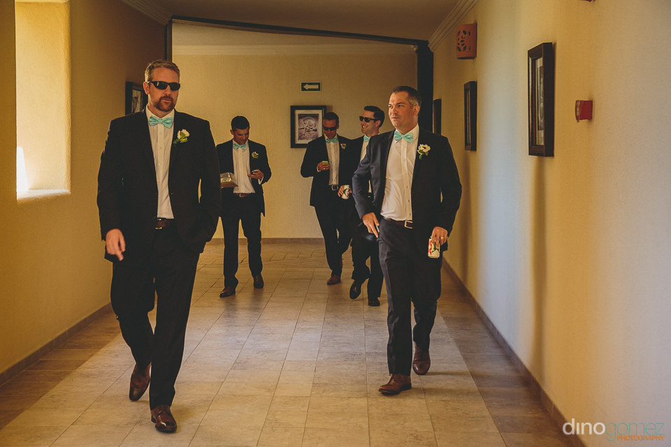 dapper groom groomsmen riu palace wedding los cabos