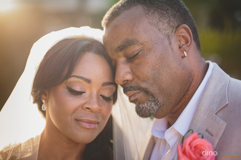 beautiful closeup photo of bride and groom