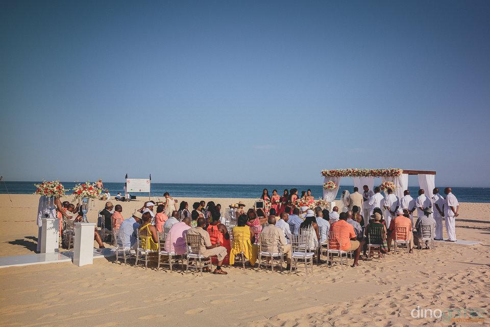 fun and classy wedding ceremony on the beach