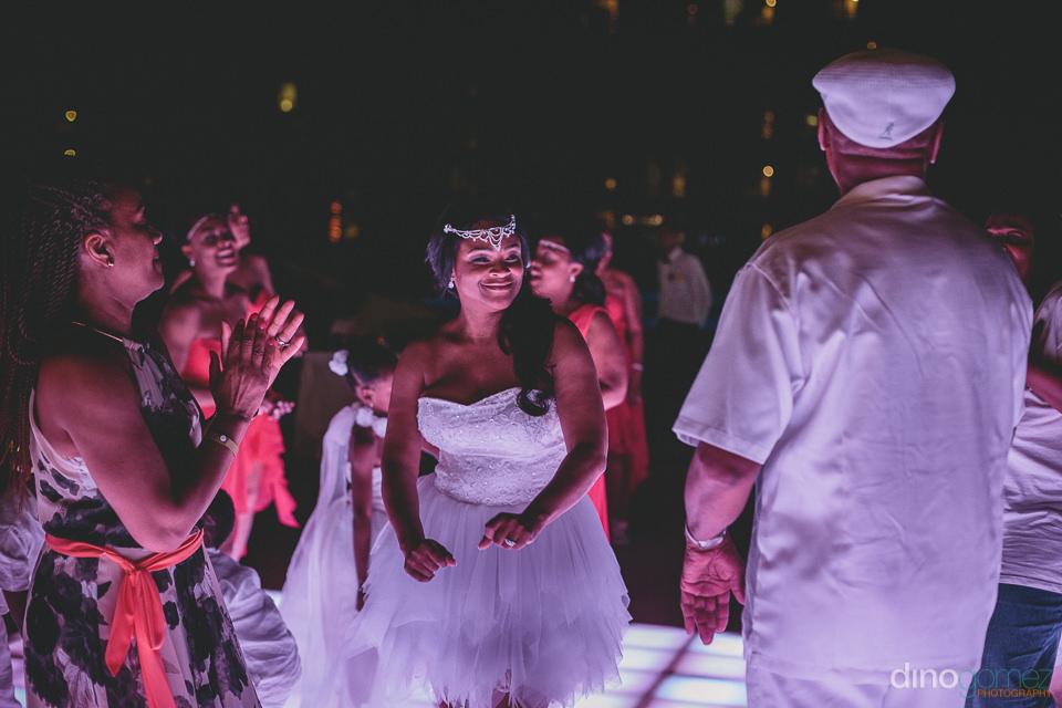 bride dancing at incredible cabo wedding at barcelo grand faro