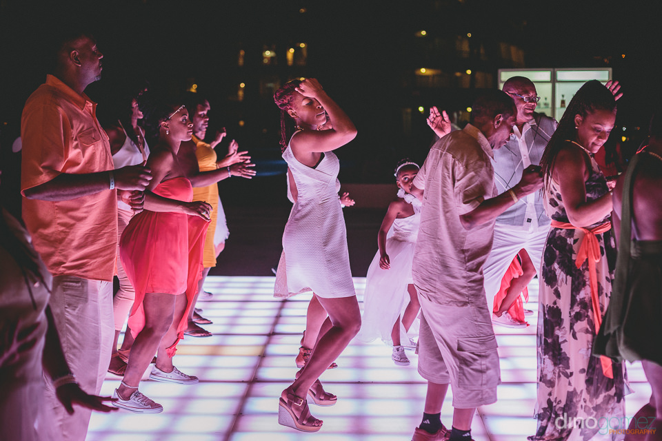 wedding guests love to dance at fun cabo wedding