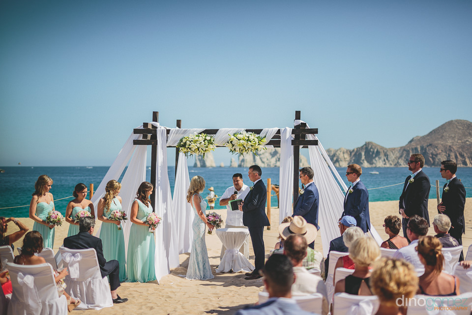 luxury destination wedding on medano beach in cabo san lucas