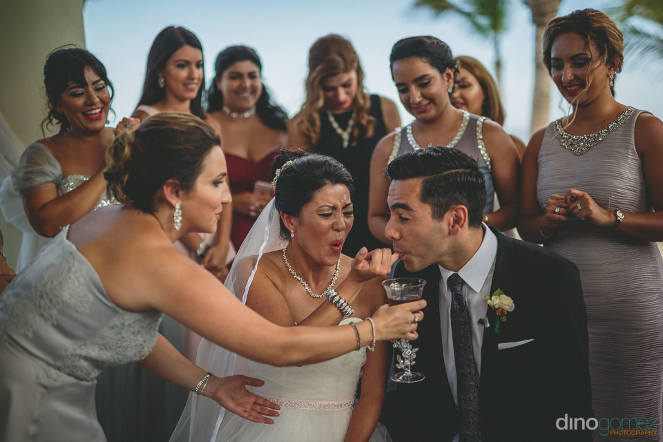 wedding ceremony ritual on the beach in cabo