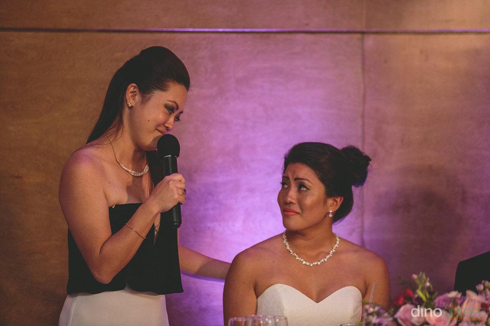 sister give speech at destination wedding at hyatt ziva los cabo